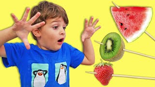 Learn Colors with Fruits Song Spanish| LETSGOMARTIN Nursery Rhymes & Canciones Infantiles