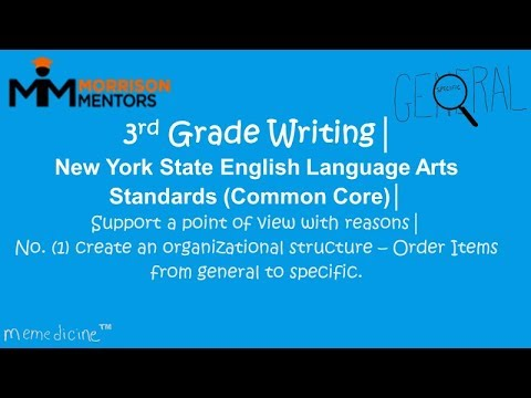 Third Grade English Language Arts│ New York State │ Writing│ No. (1) General and Specific Words.