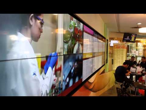 Deploying Interactive VIdeo Wall for Red Cross / HSA  at Bloodbank Singapore