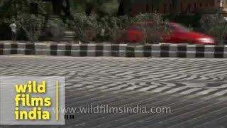 Unforgiving Summer Heat Of Delhi Melts Tarmac On Ring Road