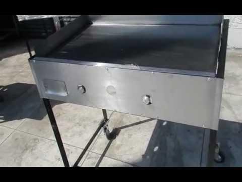 Plancha para tacos con quemador de alta presion youtube for Como cocinar salmon plancha