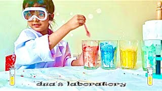 Easy DIY Science Experiments For Kids with Dua #StayHome Learn #WithMe