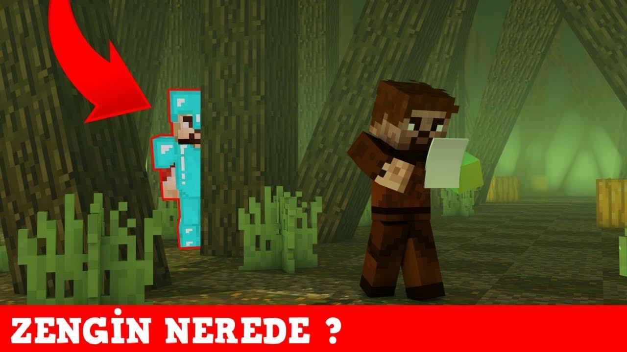 Zengin Vs Fakir 150 Zengin Bulundu Minecraft Youtube