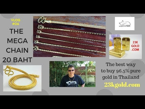 23kgold.com buying 23k gold Baht chains in Thailand