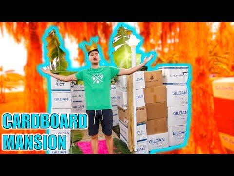 CARDBOARD BOX MANSION FORT (Hide and Seek)