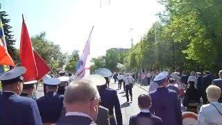Колонна КПРФ на параде Победы 9 мая 2016 г.