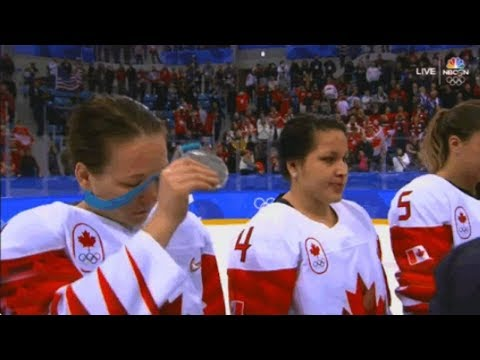 Salty Canadian Women's Hockey Player Rips Off Her Silver Medal During Ceremony