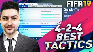 FIFA 19 NEW OVERPOWERED FORMATION 4-2-4 TUTORIAL - BEST  TACTICS & INSTRUCTIONS - HOW TO PLAY 4-2-4