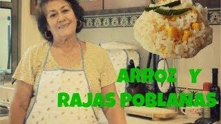 ¡cocinemos! Arroz Blanco & Rajas Poblanas :)