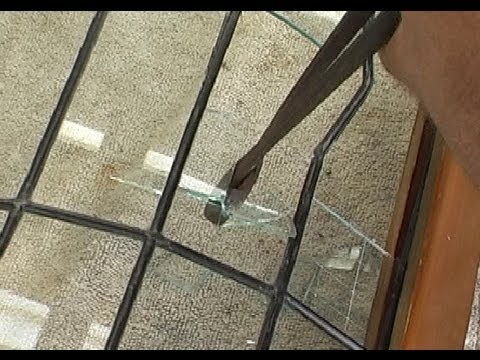 How to repair a leadlight or stained glass panel - YouTube