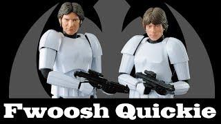 Quickie! Bandai Han Solo and Luke Skywalker in Stormtrooper Gear Model Kits Star Wars