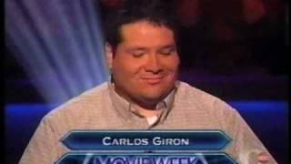 Carlos Giron On Syndicated Who Wants To Be A Millionaire Million Dollar Movie Week Edition Part 1