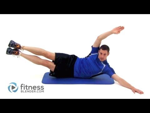 Pilates Oblique Crunch With Leg Raise (Lv 3)
