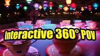 Mad Tea Party / Disneyland 360 POV/ Alice In Wonderland Teacups
