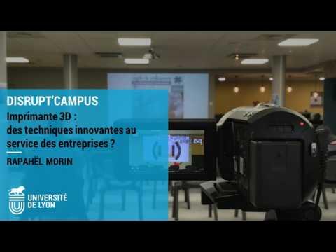Conférence - Imprimante 3D : des techniques innovantes au service des entreprises?