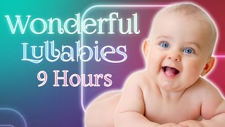 Mega Lullaby Loop 9 Hours ♥♥♥ Soothing Baby Music Mozart Brahms ♫♫♫ Cute Smiling Baby Video