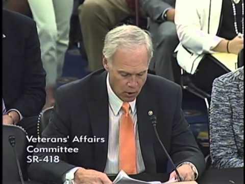 Senator Johnson testifying at VA Committee hearing.