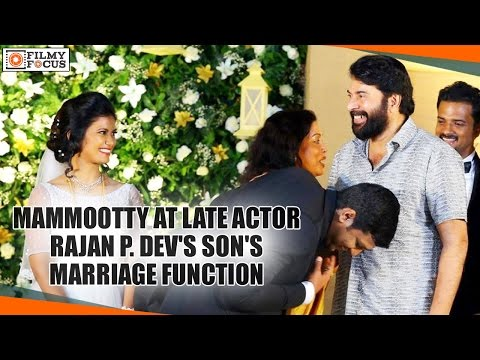 Mammootty At Late Actor Rajan P. Dev's Son's Marriage Function - Filmyfocus.com