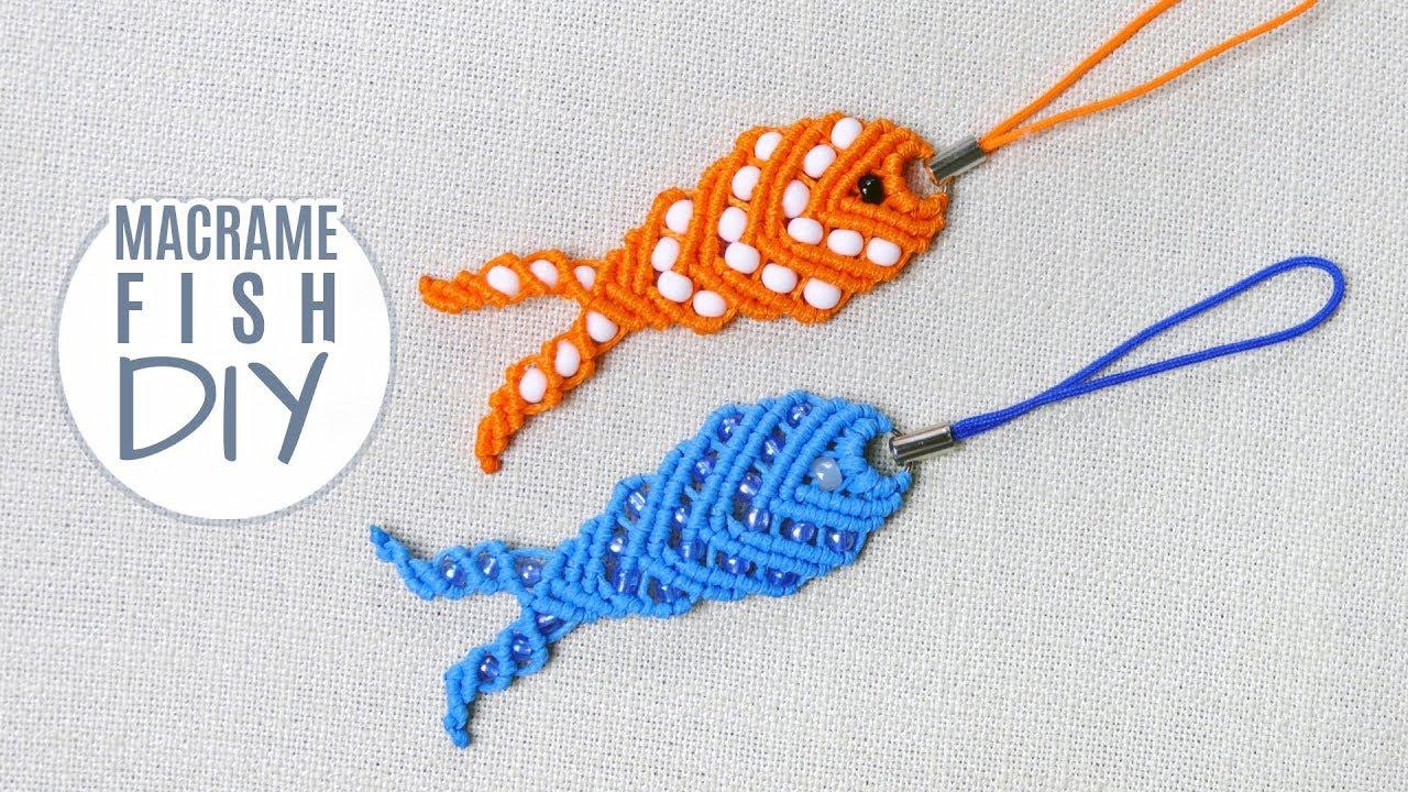 DIY FISH KEYCHAIN EASY MACRAMÉ TUTORIAL