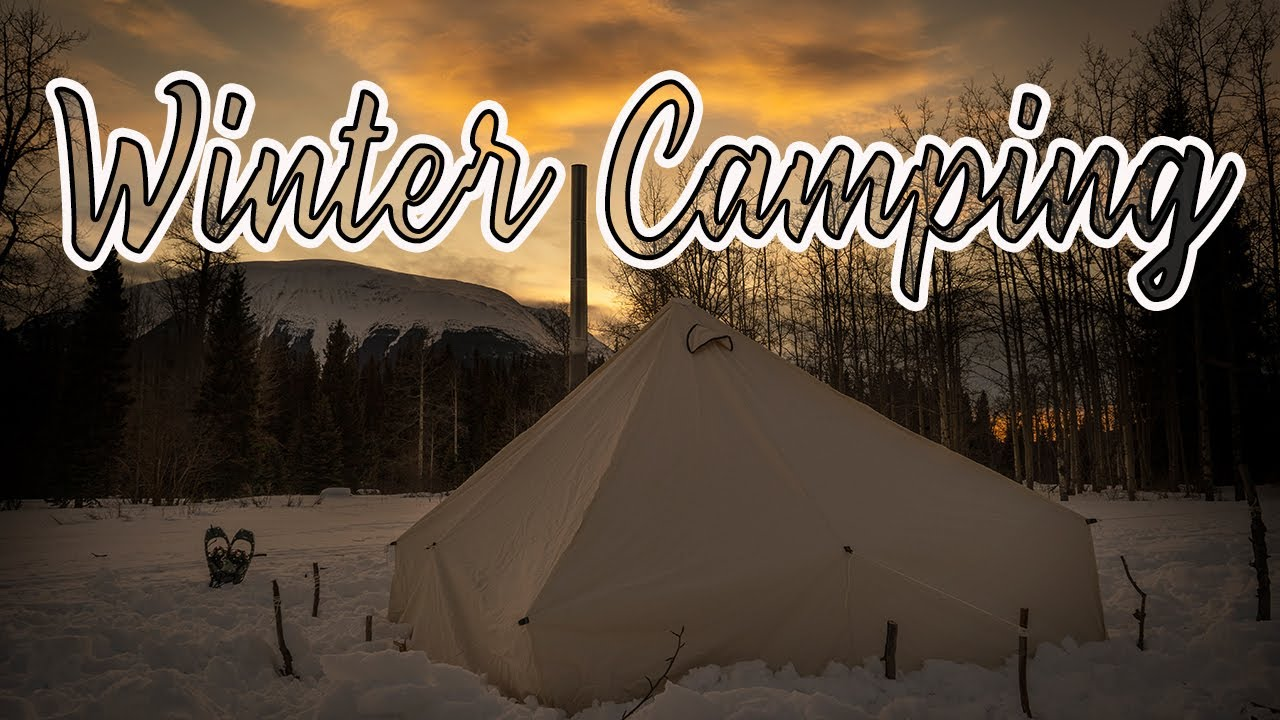 Hot Tenting With Our Dog In Deep Snow   Winter Camping ...