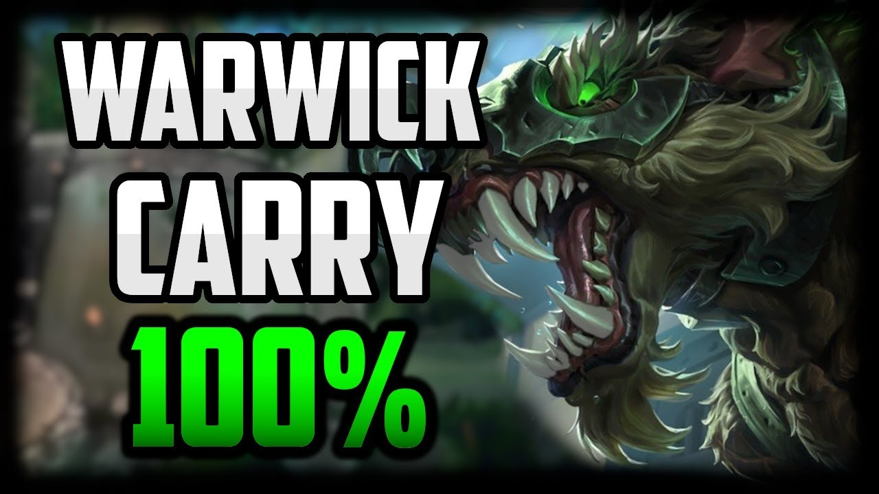 Warwick Jungle Hyper Carry Guide Warwick Commentary Guide Season 10 League Of Legends Youtube