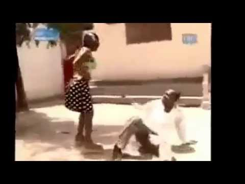 African woman beat one man up