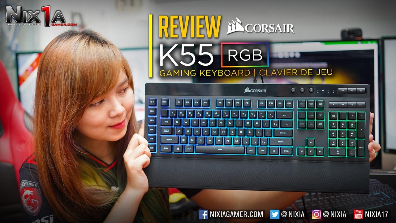 GAMING KEYBOARD CORSAIR K55 RGB MEMBRANE REVIEW - Product