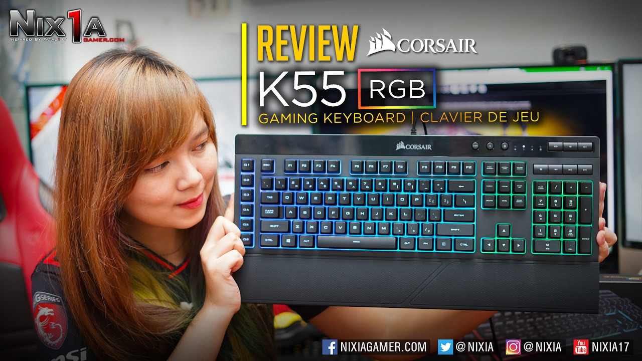 Nixia - Review Corsair K55 RGB + Tutorial Setting Backlight/Macro (Bahasa  Indonesia)