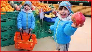 Yankı Bugün Market Alışverişinde, Meyve ve Sebze Alışverişi Yaptık l Çocuk Videosu l Prens Yankı