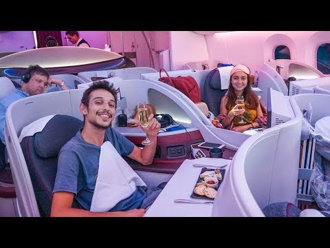 FANTASTİK Business Class VIP Deneyimimiz! - Qatar Airways Boeing 787-8 Dreamliner İncelemesi