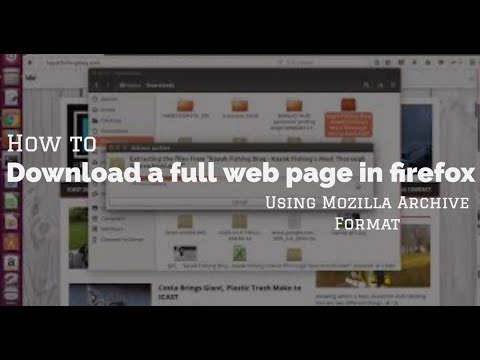 How To Download A Full Web Page In Firefox Using Mozilla Archive Format