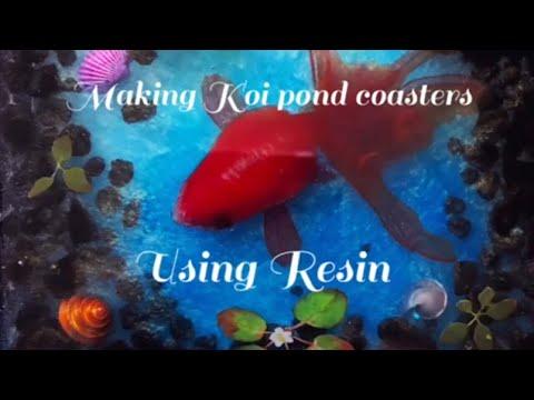 DIY Koi pond coasters using resin