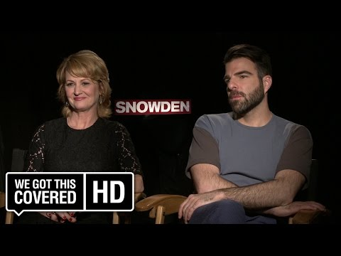 Exclusive Interview: Melissa Leo and Zachary Quinto Talk Snowden [HD]