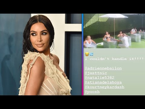Kim Kardashian FREAKS OUT Over Ice Bath