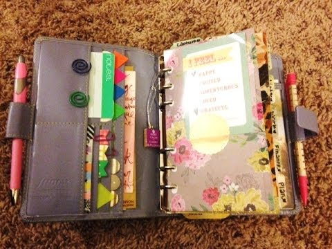 My updated planner setup in my new filofax- lavender metropol (personal size)
