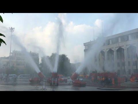 شاهد: مدافع المياه لمكافحة التلوث في بانكوك  - 12:55-2019 / 1 / 15
