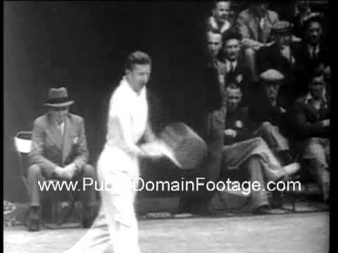 Don Budge Defends Wimbledon title 1938 archival footage