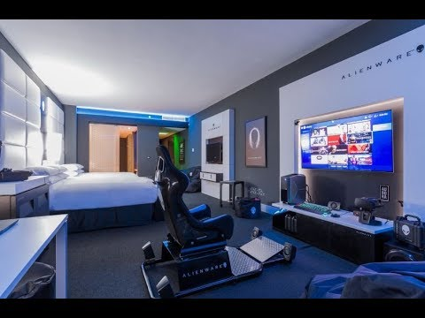 ALIENWARE GAMING: Alienware Hotel Room -TOUR (HILTON PANAMA)-QUICK LOOK