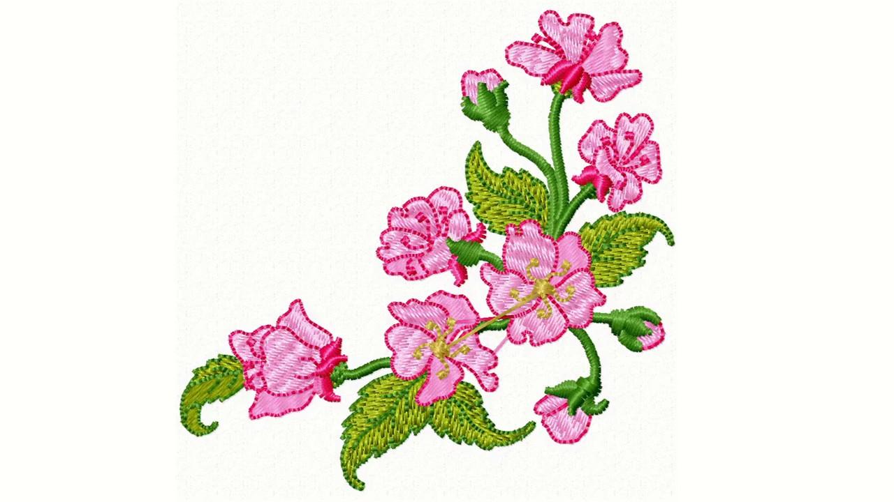 Matriz de Bordado Grátis - Floral - YouTube