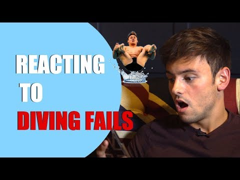 Reacting to Diving Fails! | #TDFail Ep1I Tom Daley