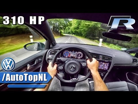 2018 VW Golf R 310HP POV Test Drive by AutoTopNL