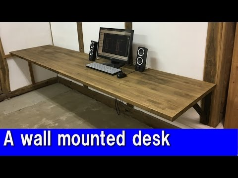 [DIY]  A wall mounted desk