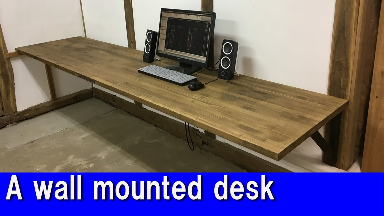 [DIY] A wall mounted desk - YouTube
