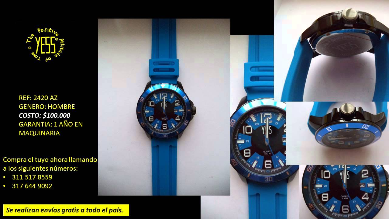 CATALOGO RELOJES YESS PARA HOMBRES - COLOMBIA - YouTube 1f976101a9f3