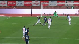 サッカー日本代表 反転してシュートの南野選手 先制ゴール 対パナマ戦