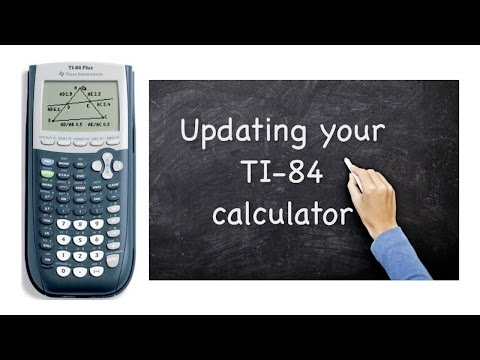 TI-84 updating the OS operating system - YouTube