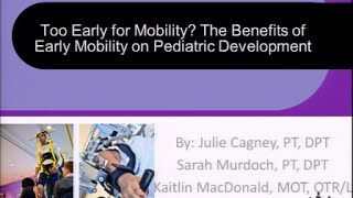 ISS 2015: IC67 - Too Early For Mobility? - Cagney, Murdoch, MacDonald