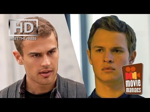 Insurgent - Divergent 2 | the Guys meet the press (2015) Ansel Elgort Theo James Jai Courtney