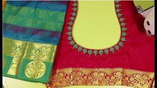 Beautiful silk saree model blouse - Easy method