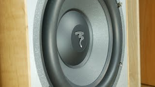 Focal active subwoofer + Kef speakers bass excursion test